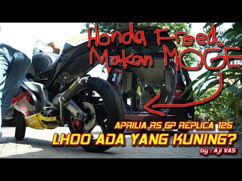 Aprilia RS 125 GP Replica Kuning Asli Jadi Keluarga Naik Honda Freed || Aji VAS