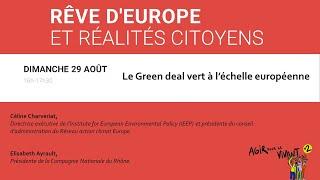Le Green deal vert à l'échelle européenne