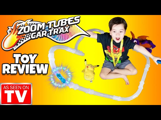 NEW Zoom Tubes Car Trax TOY REVIEW 2018 RC Racers As Seen on TV