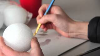 How to Paint a Styrofoam Earth Globe : Fun & Decorative Crafts