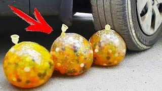 EXPERIMENT: CAR VS ORBEEZ BALLS