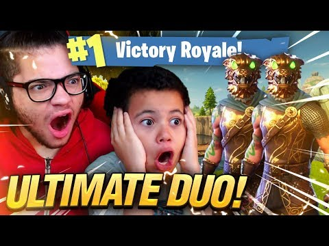 *NEW* SKIN IS INSANE! ULTIMATE DUO! 9 YEAR OLD BROTHER AND MINDOFREZ! Fortnite: Battle Royale WIN!