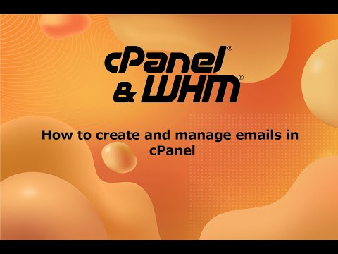 How to create and manage email accounts in cPanel web control panel