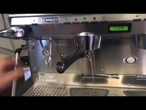 14d88b0bec Rancilio Classe 8 3 group coffee machine - YouTube