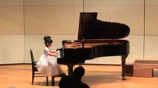 牧歌 5歳 ピアノ 音楽教室発表会にて thumbnail