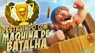 A MAQUINA DE BATALHA NV 5!! BASE DO CONSTRUTOR - CLASH OF CLANS