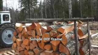 Simple Diy Portable Firewood Rack