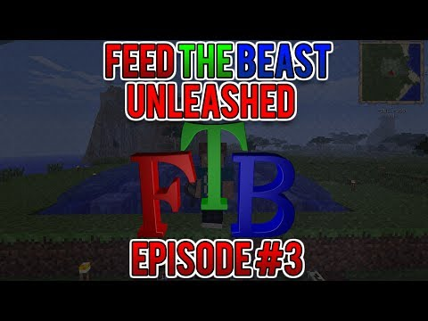 Minecraft FTB Unleashed! - Episode 3 - Water MILLS?!?! WATER POWER SOURCE!
