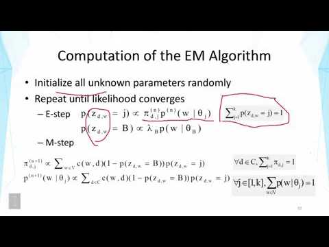DATA MINING   3 Text Mining and Analytics   3 8 Probabilistic Latent Semantic Analysis PLSA Part 2