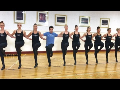 'Average Andy' with the Radio City Rockettes