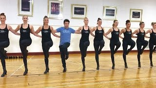 \'Average Andy\' with the Radio City Rockettes