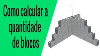 Como calcular a quantidade de blocos na minha obra