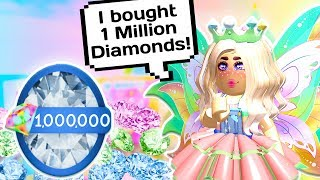 I BOUGHT 1 MILLION DIAMONDS IN ROYALE HIGH! 🏰💎 // Spending 78,000 Robux in Roblox
