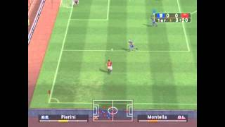 Pro Evolution Soccer 3 (PS2) - Intro + Gameplay (Parma vs AS Roma)