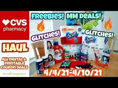 CVS Haul 4/4/21-4/10/21! Glitches! Freebies! All Digital and Printable Coupon Deals!