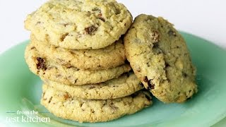 Cornmeal Chocolate-chunk Cookies With Raisins - From The Test Kitchen