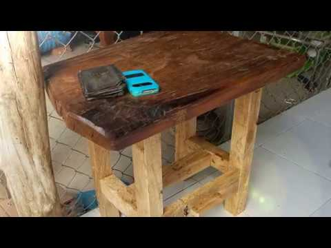 My woodworking Project Bedside table, End table- DIY at home Minimal Tools