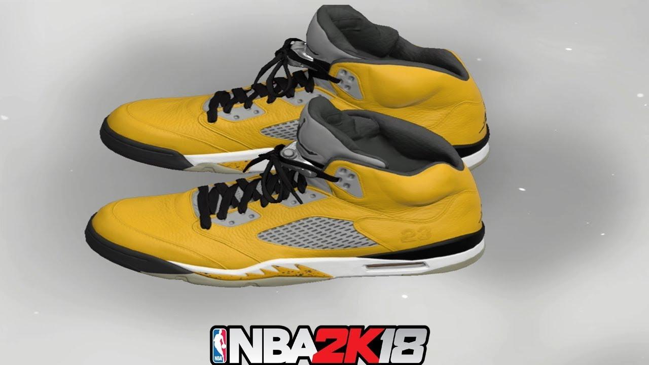NBA 2K18 Shoe Creator ⋆#NBA2K18⋆ Jordan 5 Tokyo