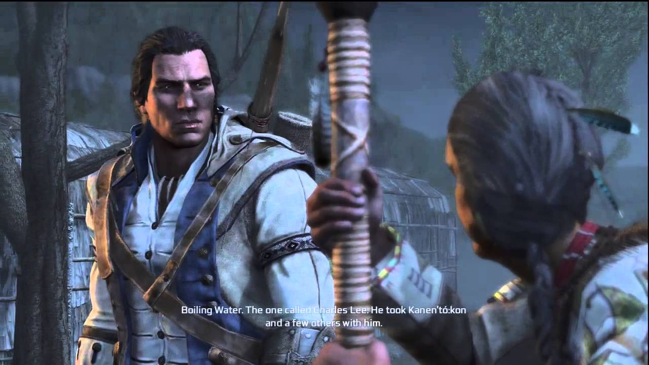 Image result for connor meeting with the tribe elder assassin's creed III