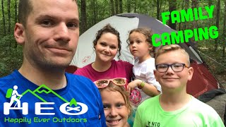 Family Camping at Atsion Lake, NJ