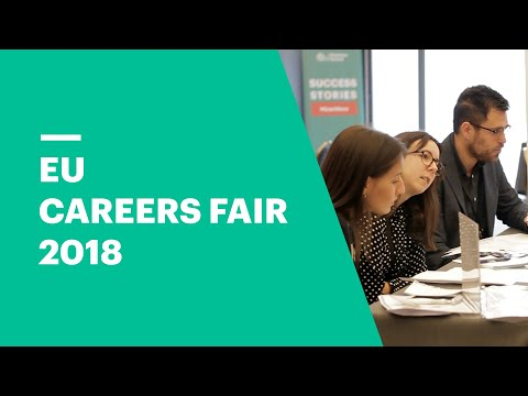 Networking with Business Leaders at the EU Careers Fair 2018