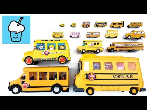 School Bus for children kids with tomica トミカ VooV ブーブ 変身 lego playmobil robocar hello kitty snoopy
