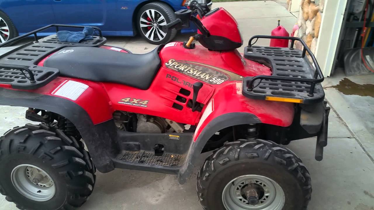 Part 2 Drained Fuel Tank And Found Dirt Bad Gas Carb 2004 Polaris Sportsman Filter Added Cleaner Let
