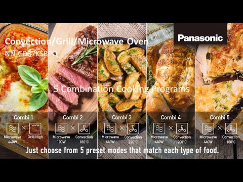 Panasonic Convection Grill Microwave Oven NN-CD87KSBPQ combi cooking ver