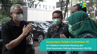 Sekjen Kemenkes RI Tinjau Poltekkes dan BKOM Bandung
