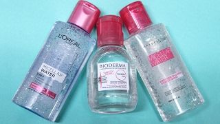 BATTLE OF THE MICELLAR WATERS || Bioderma, L'Oreal & Maybelline Review