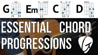 chord progression practice - g em c d - unlock the ability to play thousands of songs!
