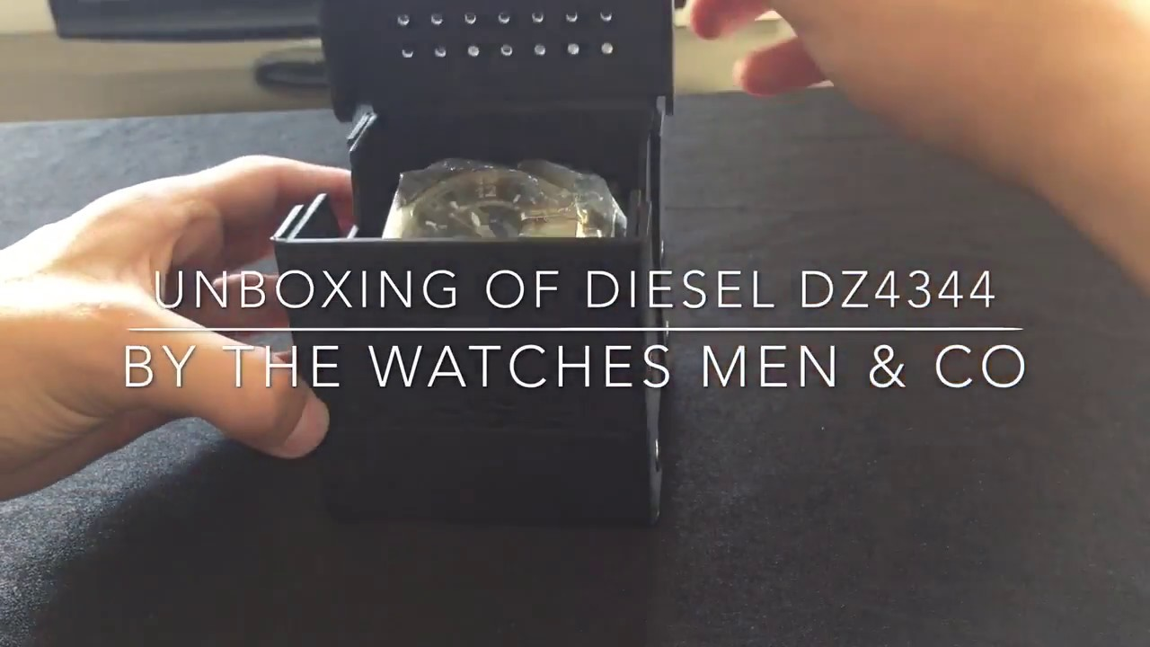 51c4d029f336 Unboxing of Diesel DZ4344 Gold Men s Watch - YouTube