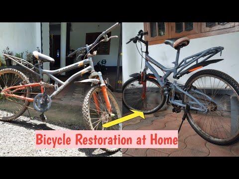 Hero bicycle Restoration #shorts #bicycle #restoration at home 😄 thumbnail
