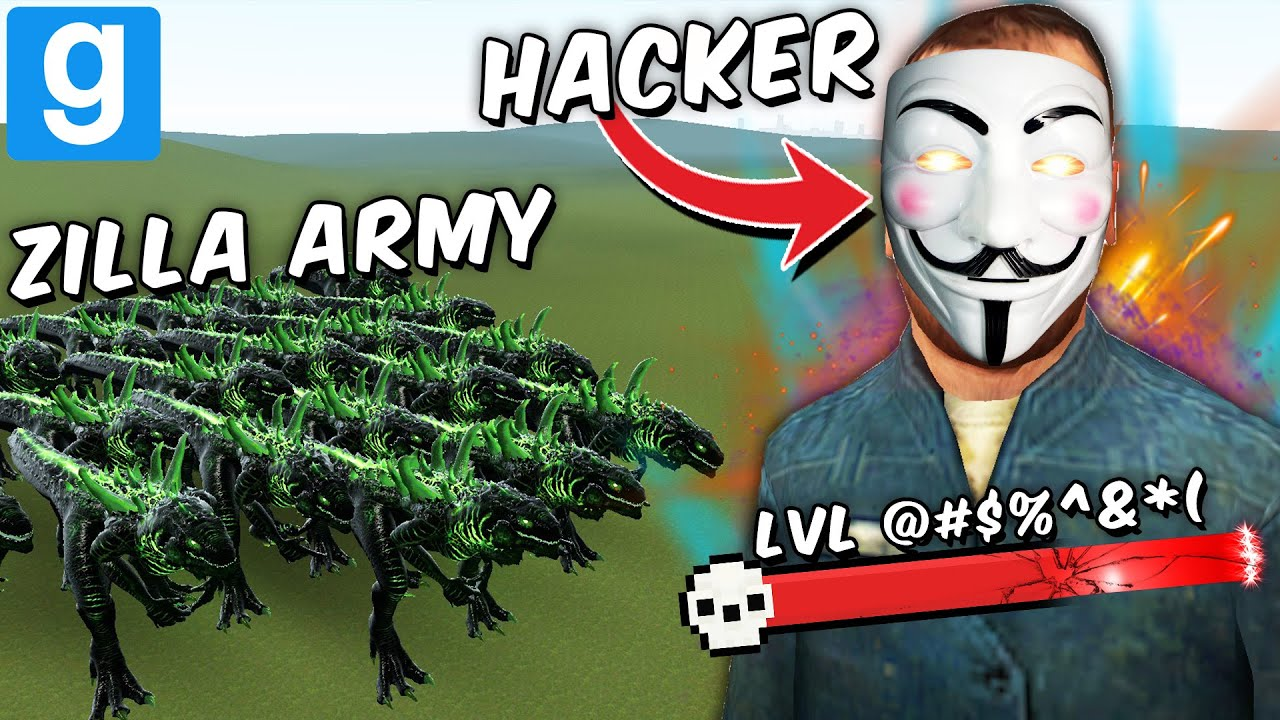 GODZILLA ARMY vs 1 HACKER?! (Garry's Mod Sandbox)