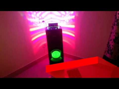 SONY MHC V50D FULL REVIEW - 660 WATTS PARTY LIGHTS BONNANZA
