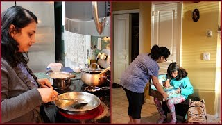 Monday Crazy Morning Routine | Indian (NRI) Mom's Life | Simple Living Wise Thinking