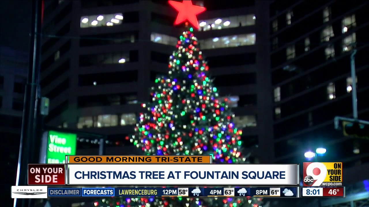 Christmas Tree Arrives At Fountain Square In Downtown