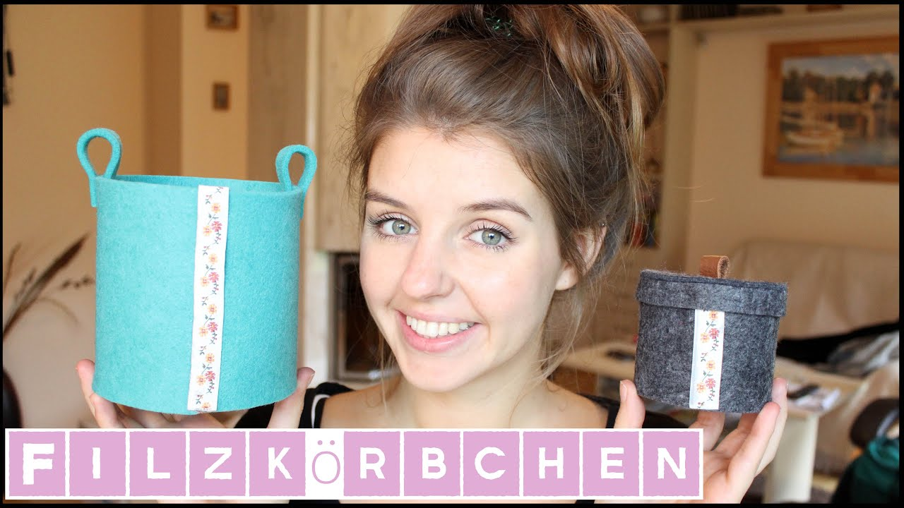 diy filzkorb ohne n hen super einfach lovethecosmetics youtube. Black Bedroom Furniture Sets. Home Design Ideas