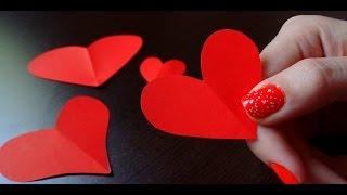 DIY: Como Cortar Coração ♥ Molde Vazado de Coração ♥ Atividade Pedagógica ♥ How to cut out hearts