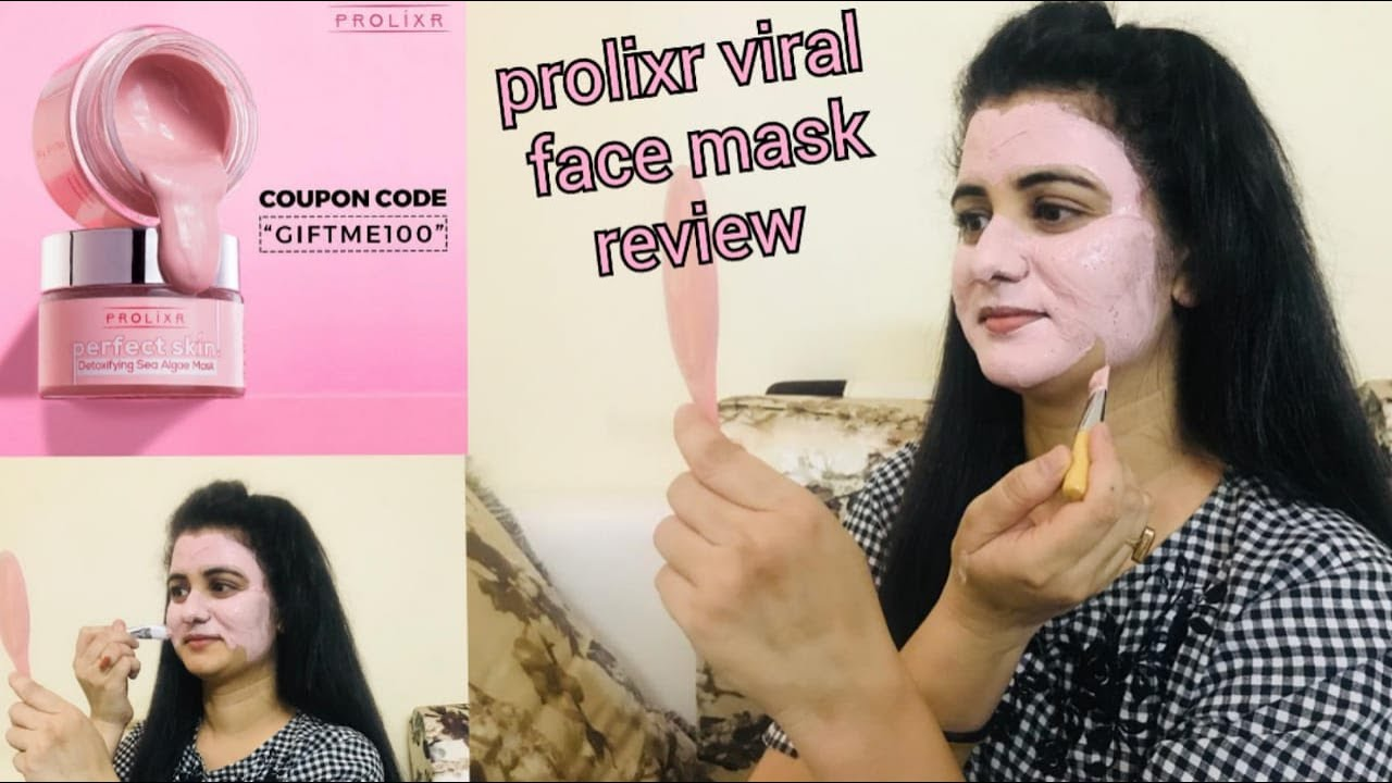 💥Prolixr Face Mask💥|| Prolixr Detoxifying Seal Algae Mask Review || Best Clay Mask For Skin