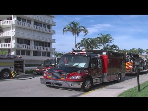 Fire evacuates residents at Palm Beach apartment building