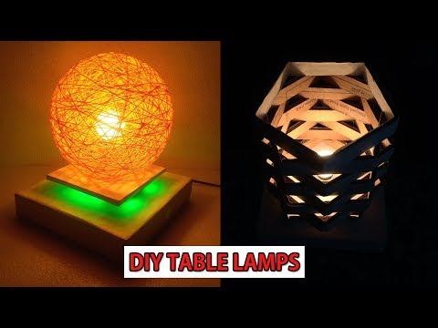 DIY- Make Easy Table Lamp|Homemade Lampshade|Night lamp DIY | Home Decorative lighting Crafts Idea