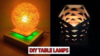 DIY- Make Easy Table Lamp Homemade Lampshade Night lamp DIY   Home Decorative lighting Crafts Idea