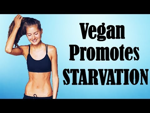 vegan-girl-promotes-starvation