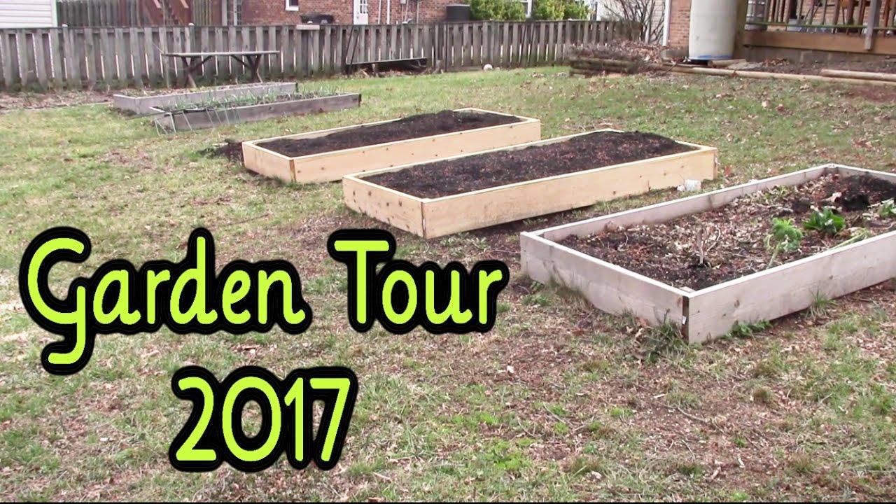 backyard vegetable garden tour march 2017 youtube