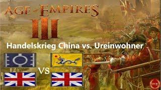 Age of Empires III - Handelskrieg zw. China und Ureinwohner | 2vs2 [Deutsch/HD/Gameplay]