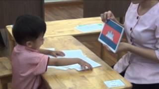 Bé nhận biết Tên cờ của các nước - Gia Khương 32 tháng tuổi