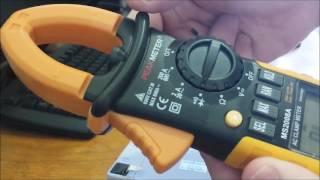 Teste do Alicate Amperímetro MS2008A