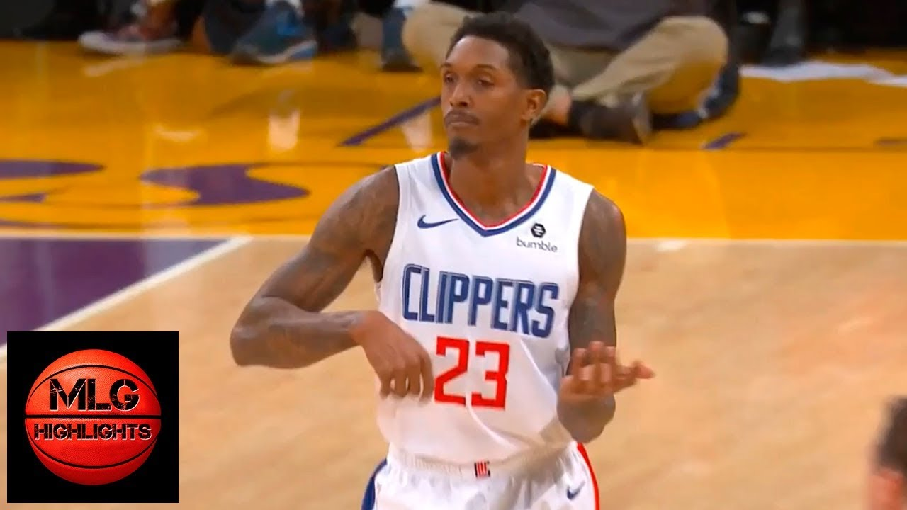 detailed pictures be1bd d13e7 Lou Williams Trolls Lakers with Lance Stephenson's guitar celebration |  Lakers vs LA CLippers
