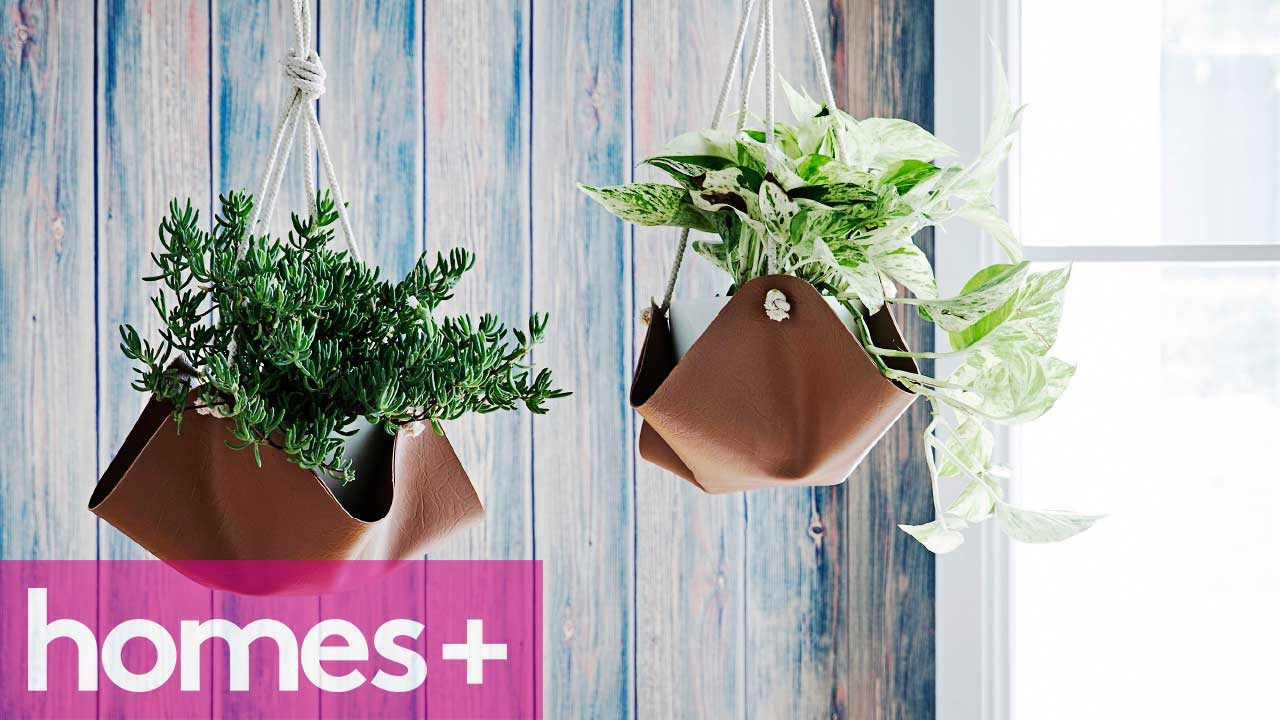 Diy Project Faux Leather Plant Hangers Homes Youtube